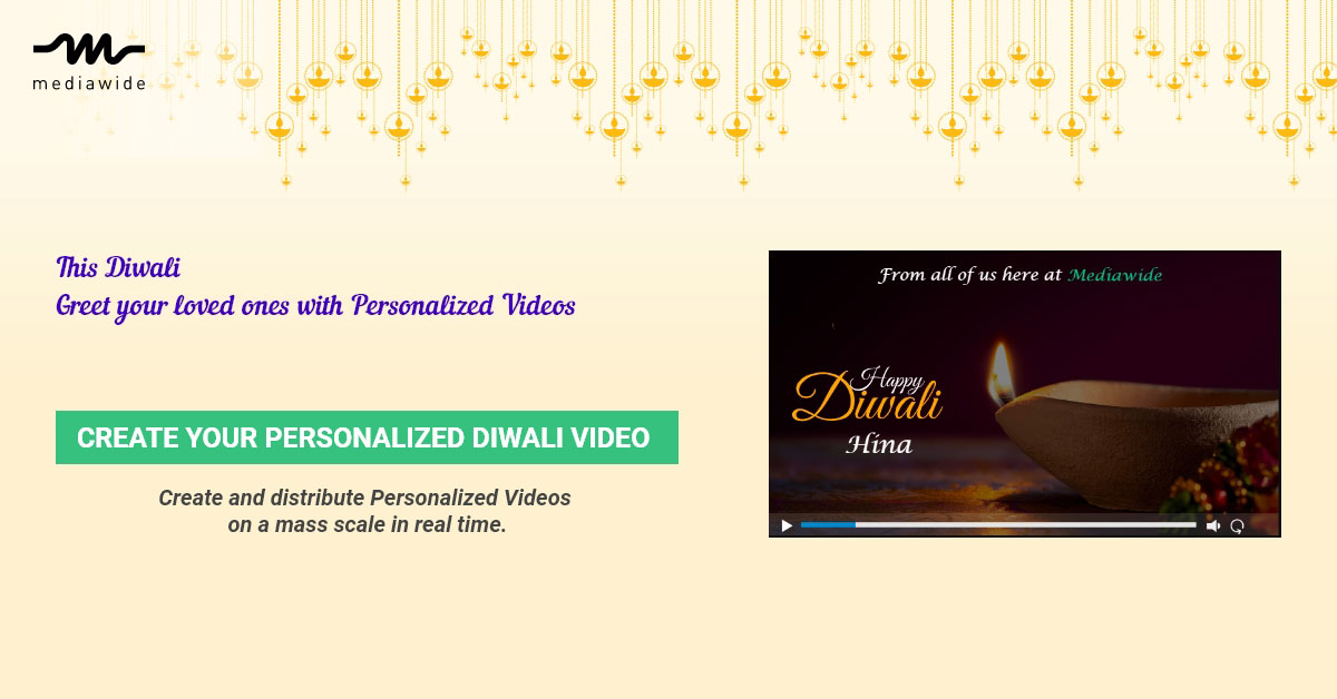 This Diwali: Use Personalized Videos for Brand Activation